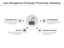 Lean Management Employee Productivity Marketing Diversity Reporting Hierarchy Cpb