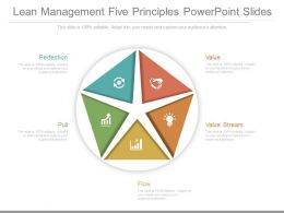 Lean Management Five Principles Powerpoint Slides