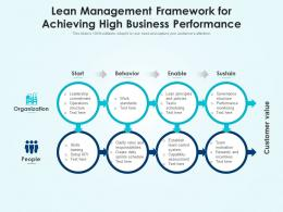 Lean Management Framework For Achieving High Business Performance