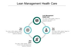 Lean Management Health Care Ppt Powerpoint Presentation Styles Outfit Cpb