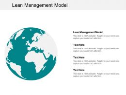 Lean Management Model Ppt Powerpoint Presentation Infographics Graphic Images Cpb