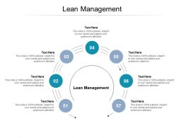 Lean Management Ppt Powerpoint Presentation Layouts Mockup Cpb