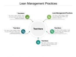 Lean Management Practices Ppt Powerpoint Presentation Portfolio Topics Cpb