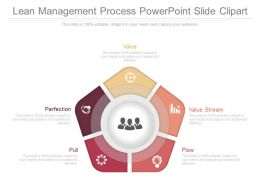 Lean Management Process Powerpoint Slide Clipart