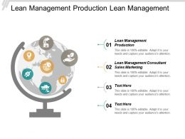 Lean Management Production Lean Management Consultant Sales Marketing Cpb