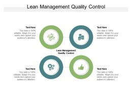 Lean Management Quality Control Ppt Powerpoint Presentation Influencers Cpb
