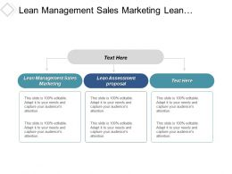 Lean Management Sales Marketing Lean Assessment Proposal Lean Manufacturing Cpb