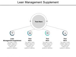 Lean Management Supplement Ppt Powerpoint Presentation Infographics Diagrams Cpb