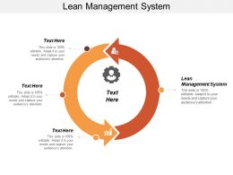 Lean Management System Ppt Powerpoint Presentation Infographic Template Clipart Images Cpb