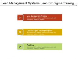 Lean Management Systems Lean Six Sigma Training Programs Cpb