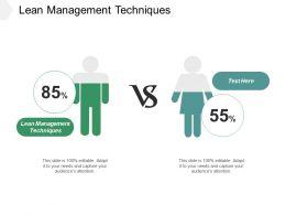 Lean Management Techniques Ppt Powerpoint Presentation Inspiration Sample Cpb