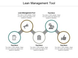 Lean Management Tool Ppt Powerpoint Presentation File Slide Portrait Cpb