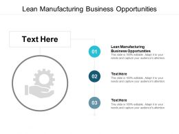 Lean Manufacturing Business Opportunities Ppt Powerpoint File Cpb