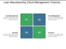 Lean Manufacturing Cloud Management Channel Management Enterprise Project Management Cpb