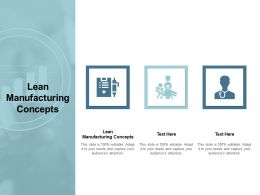 Lean Manufacturing Concepts Ppt Powerpoint Presentation Outline Format Cpb