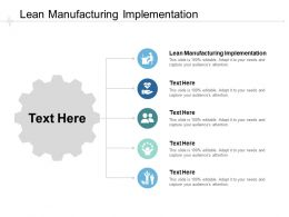 Lean Manufacturing Implementation Ppt Powerpoint Presentation Infographics Cpb