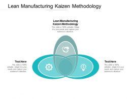 Lean Manufacturing Kaizen Methodology Ppt Powerpoint Presentation Portfolio Format Ideas Cpb