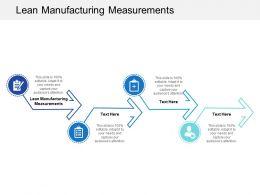 Lean Manufacturing Measurements Ppt Powerpoint Presentation Slides Background Designs Cpb