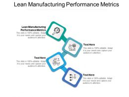 Lean Manufacturing Performance Metrics Ppt Powerpoint Presentation Pictures Inspiration Cpb