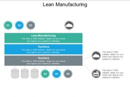Lean Manufacturing Ppt Powerpoint Presentation Pictures Diagrams Cpb