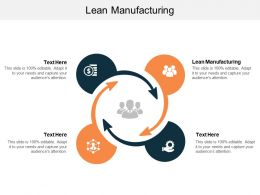 Lean Manufacturing Ppt Powerpoint Presentation Slides Aids Cpb