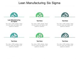 Lean Manufacturing Six Sigma Ppt Powerpoint Presentation Infographic Template Guidelines Cpb
