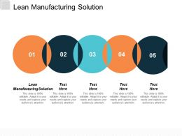 Lean Manufacturing Solution Ppt Powerpoint Presentation Model Slides Cpb