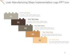 Lean Manufacturing Steps Implementation Lego Ppt Icon