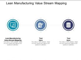 Lean Manufacturing Value Stream Mapping Ppt Powerpoint Presentation Ideas Backgrounds Cpb
