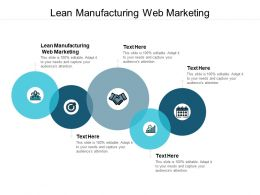 Lean Manufacturing Web Marketing Ppt Powerpoint Presentation Icon Cpb