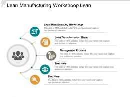 Lean Manufacturing Workshop Lean Transformation Model Management Process Cpb