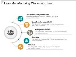 Lean Manufacturing Workshop Lean Transformation Model Management Process Cpb