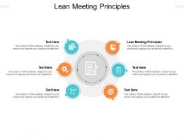 Lean Meeting Principles Ppt Powerpoint Presentation Model Layouts Cpb