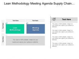 Lean Methodology Meeting Agenda Supply Chain Management Logistics Cpb