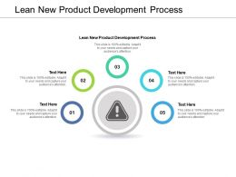 Lean New Product Development Process Ppt Powerpoint Presentation Cpb