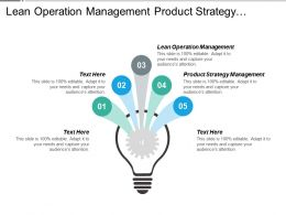 Lean Operation Management Product Strategy Management Digital Makeovers Cpb