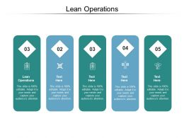 Lean Operations Ppt Powerpoint Presentation File Grid Cpb