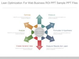 Lean Optimization For Web Business Roi Ppt Sample Ppt Files