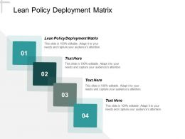 Lean Policy Deployment Matrix Ppt Powerpoint Presentation Infographics Mockup Cpb