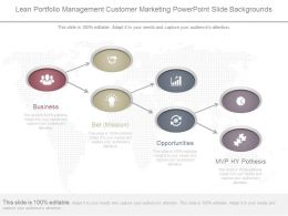 Lean Portfolio Management Customer Marketing Powerpoint Slide Backgrounds