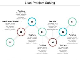 Lean Problem Solving Ppt Powerpoint Presentation File Graphic Tips Cpb