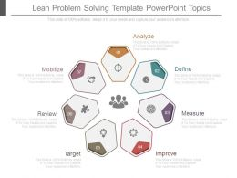 Lean Problem Solving Template Powerpoint Topics