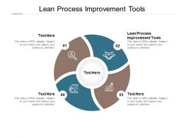 Lean Process Improvement Tools Ppt Powerpoint Presentation File Clipart Images Cpb