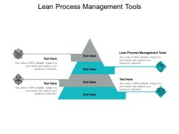 Lean Process Management Tools Ppt Powerpoint Presentation Images Cpb