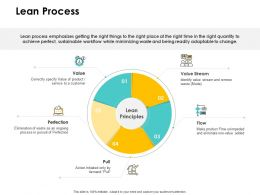 Lean Process Perfection Ppt Powerpoint Presentation Slides Gridlines