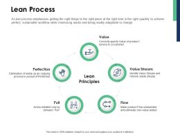 Lean Process Value Stream Flow Ppt Powerpoint Presentation Outline Microsoft