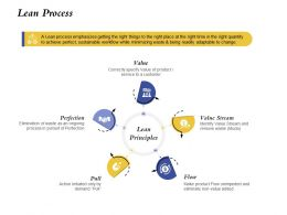 Lean Process Value Stream Ppt Powerpoint Presentation Styles Demonstration