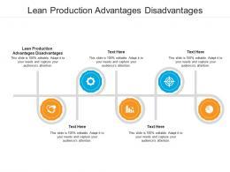 Lean Production Advantages Disadvantages Ppt Powerpoint Presentation Infographics Sample Cpb