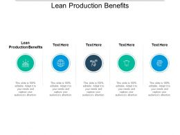 Lean Production Benefits Ppt Powerpoint Presentation Model Samples Cpb
