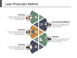 Lean Production Method Ppt Powerpoint Presentation Infographic Template Portfolio Cpb